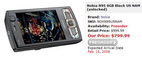 Nokia N95 8GB NAM