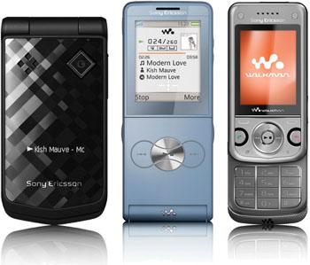 Sony Ericsson Z555, W760, W350