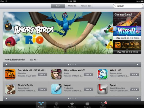 iPad 2 Angry Birds AppStore