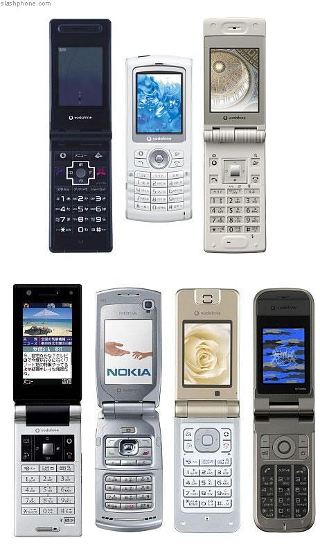 Nokia N71, Vodafone 804NK – новый мобильные телефоны оператора Vodafone Japan
