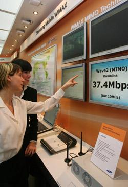 Samsung демонстрирует Mobile WiMAX