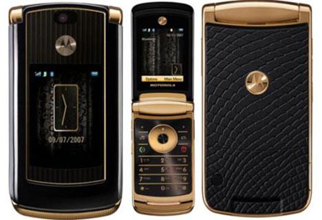 Motorola RAZR2 с отделкой из золота и змеиной кожи