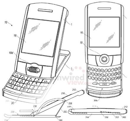 Новый патент RIM совмещает сенсорный дисплей с QWERTY-клавиатурой