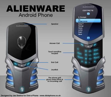 Концепт телефона Alienware Android