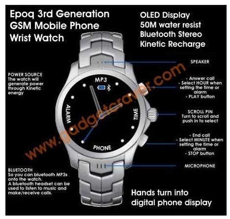 Телефон-часы Epoq EGP WP88 можно даже не заряжать