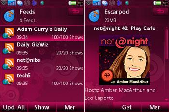 Escarpod - очень нужная программа для подкастов на Symbian UIQ 3